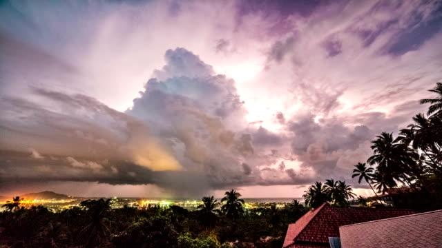 時間の経過の嵐 - 気象学点の映像素材/bロール