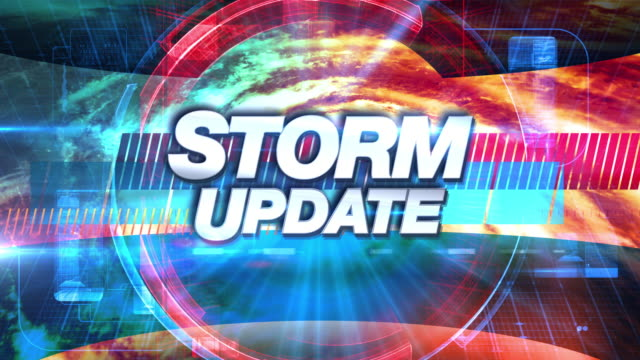 stockvideo's en b-roll-footage met storm update - uitzending tv graphics titel - waakzaamheid