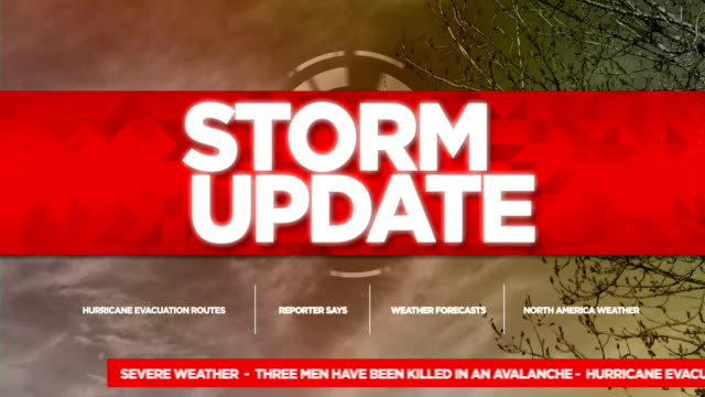 Storm Update Broadcast Tv Graphics Title