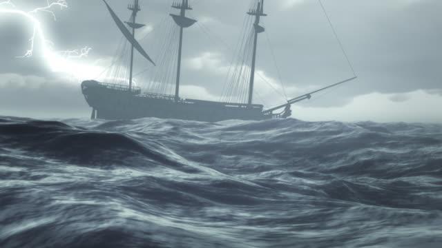 vídeos de stock, filmes e b-roll de storm - navio