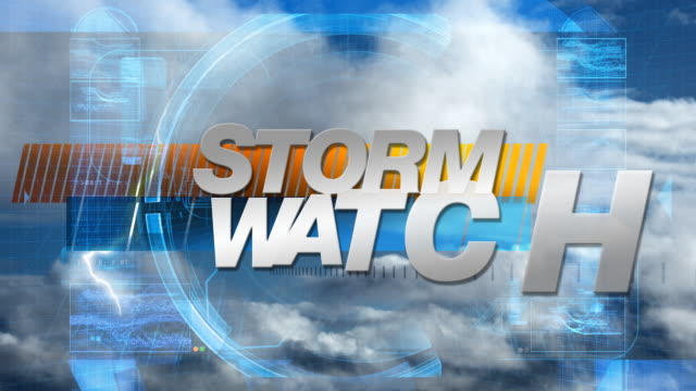 Storm Watch - Broadcast Graphics Title video