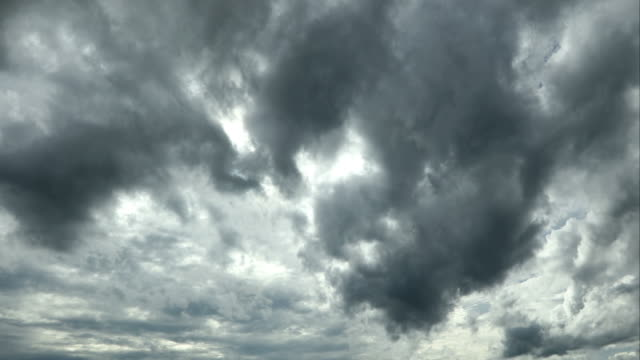 stormy black clouds taking shape in the sky - monsone video stock e b–roll