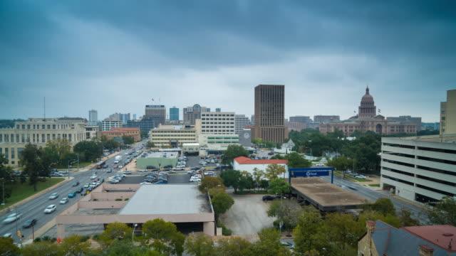 Stormy daytime scene in Austin, Texas