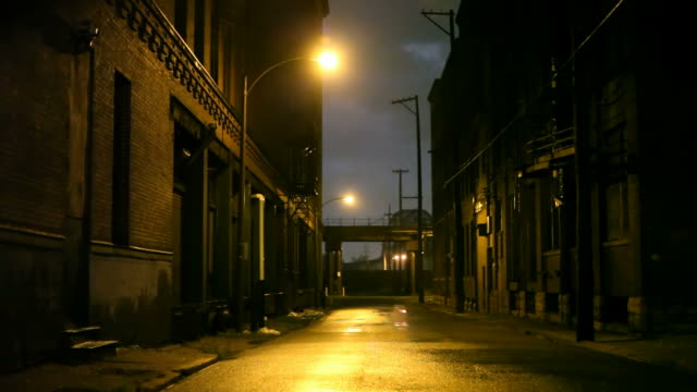 Stormy Night Stormy night in the City of St Louis, Missouri alley stock videos & royalty-free footage