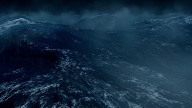 vidéos et rushes de océan houleux avec lightnings-hd, ntsc, pal - desastre natural
