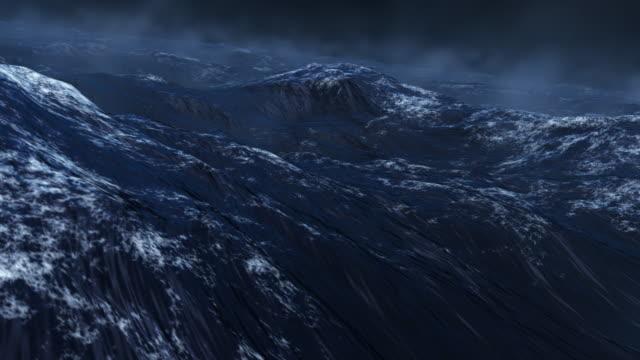 Stormy Rough Blue Ocean video