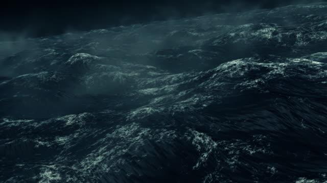 Stormy Rough Dark Ocean video