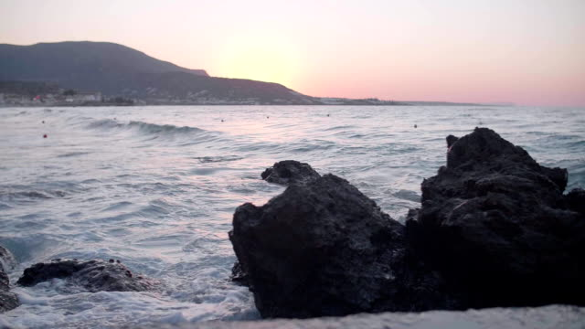 Stormy Sea at Sunset video