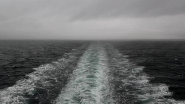 Stormy ship wake. video