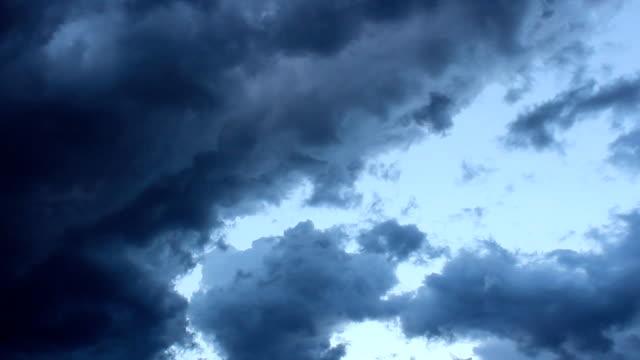 stockvideo's en b-roll-footage met stormy sky, wolk timelapse - s