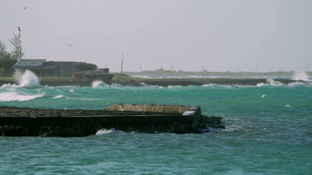 Stormy Weather and Waves near Playa Herradura, Cuba video