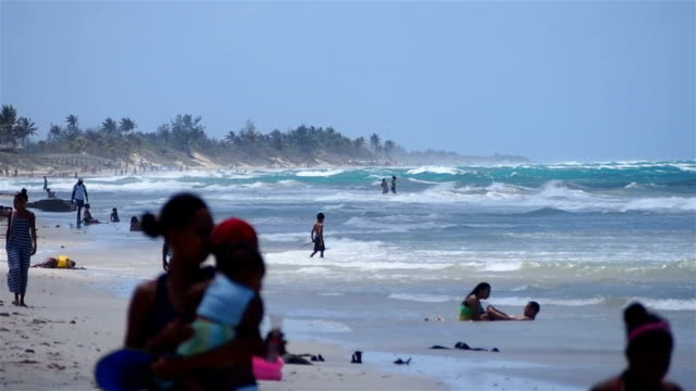 Stormy weather at the beach. Playas del Este, La Habana, Cuba video