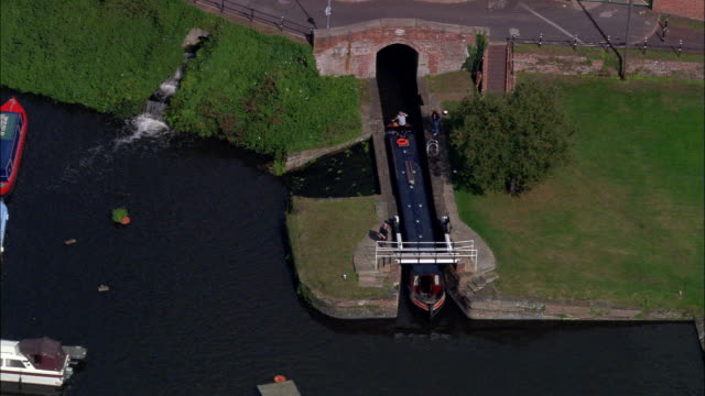 Stourport  - Aerial View - England, United Kingdom video