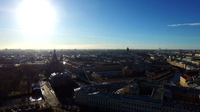 St.-Petersburg City In Calm Sunny Day, Russia video