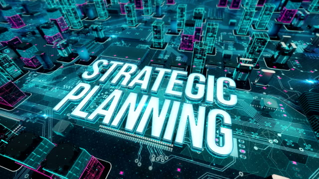 Strategic Planning with digital technology concept