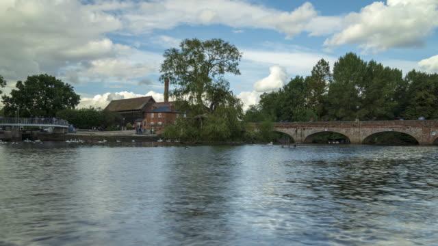 Stratford-upon-Avon in the daytime -4k time -lapse