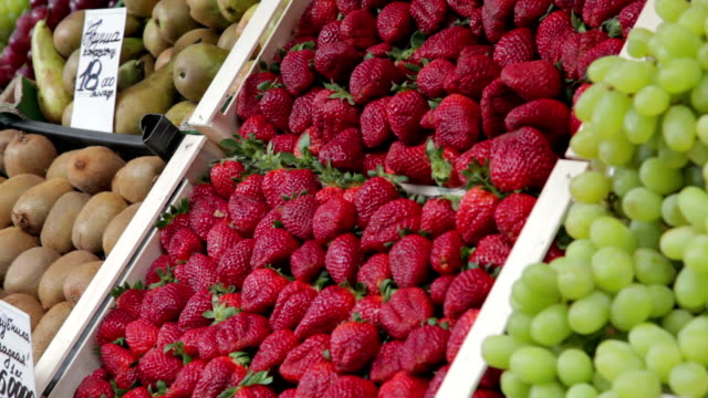 Strawberries for Sale on the Market video