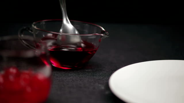 Strawberry Topping Strawberry topping jello stock videos & royalty-free footage