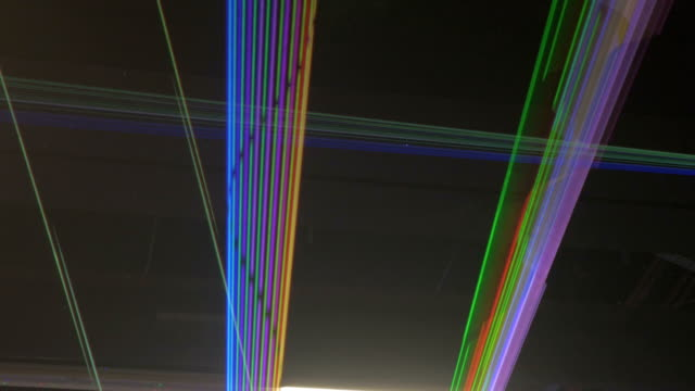 Streaks of Laser Lights Criss-Crossing, Expanding, and Collapsing video