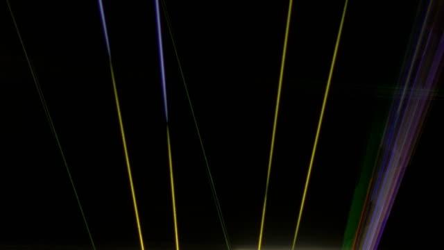 Streaks of Laser Lights on Ceiling video