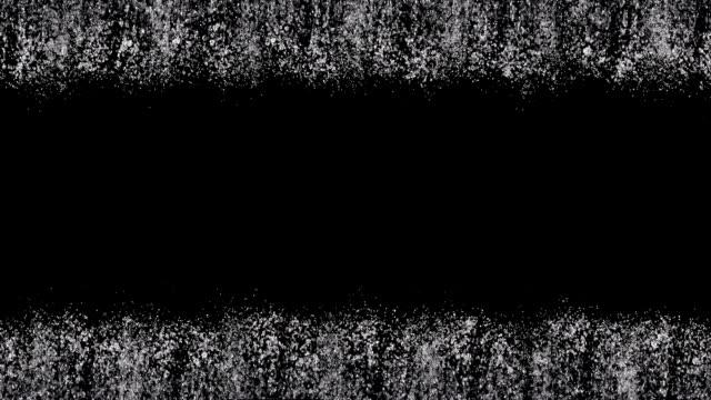 Stream of water against black video