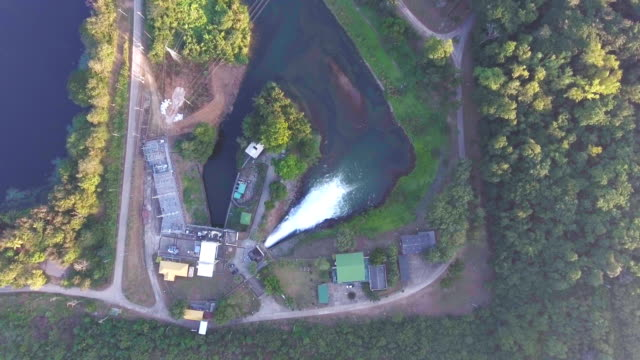 Stream of water releasing from dam video
