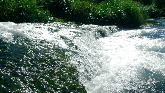 Stream water falling
