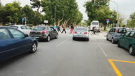 istock Street and road traffic in Thessaloniki, slow motion 1330257048