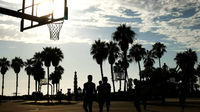 street basketball slam dunk