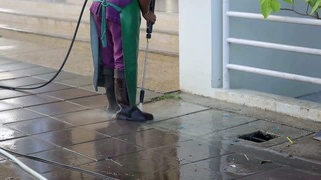 Street care and cleaning services with water machine Street care and cleaning services with water machine dishwashing liquid stock videos & royalty-free footage