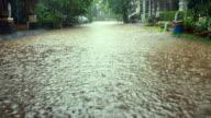 istock Street flood in an urban environment 505552145