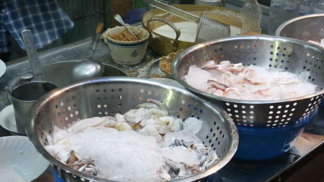 Street food in Chinatown of Bangkok video