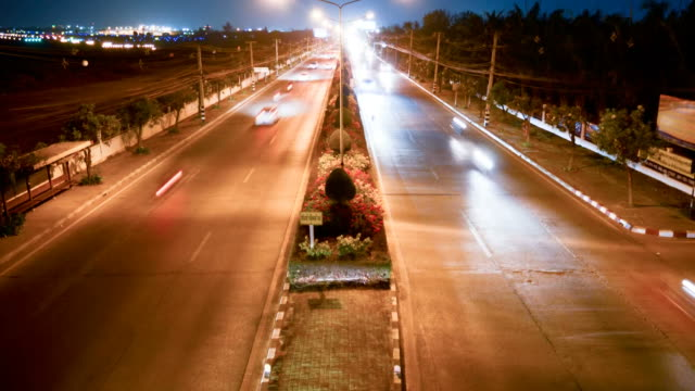 street high way time-lapse video