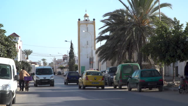 Street in a quiet arab town in Tunisia