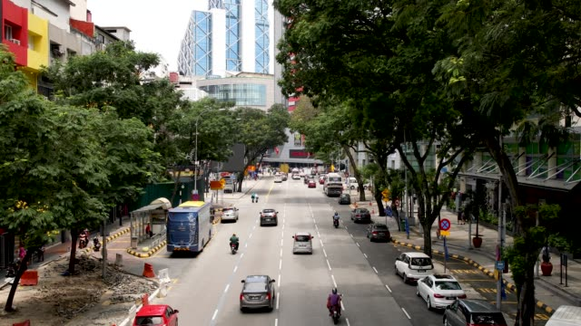 Street in Chow Kit Market District Of Kuala Lumpur Malaysia video