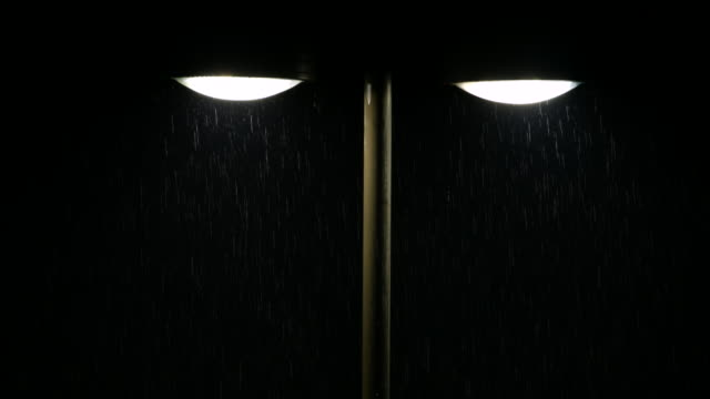Street Light and Rain video