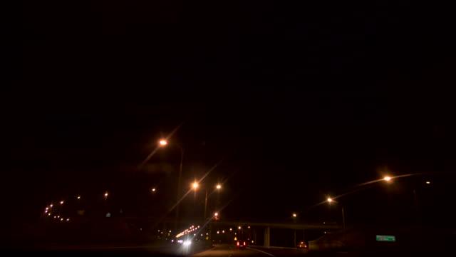Street lights at Night video