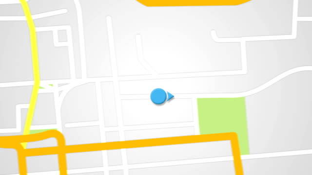 Video street map GPS navigator seamless loop