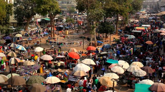 Street market in Ahmedabad video