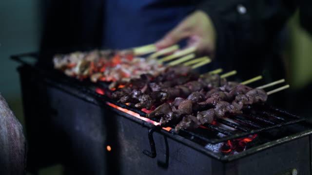 street market  street food thailand - tajska kuchnia filmów i materiałów b-roll