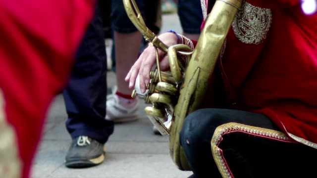 Street Musician Playing Trombone video
