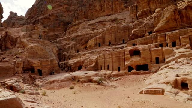 Street of Tombs in the rock city Petra / Jordan video