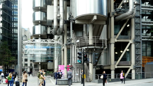 Street Scene At Lloyds Building In London (4K/UHD to HD) video
