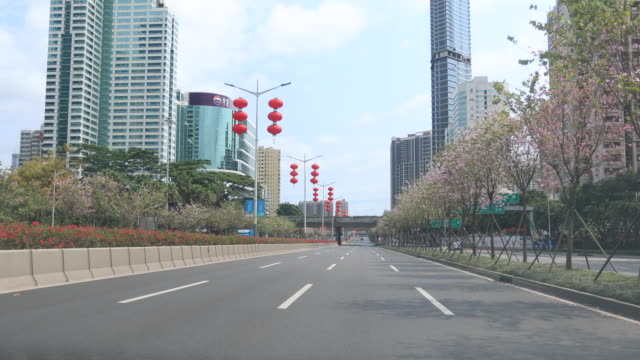 street scene during the outbreak of novel coronavirus in shenzhen city - covid 19 stock videos & royalty-free footage