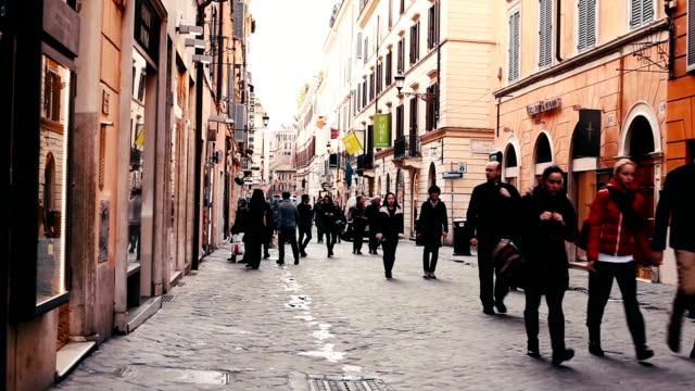 street scene from rome - italian architecture stock videos & royalty-free footage