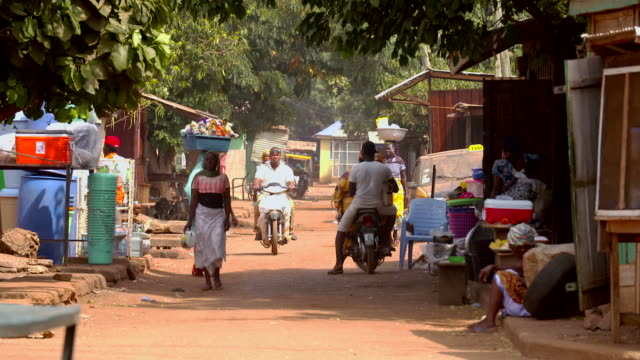 street scene in african village video
