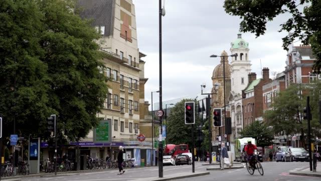 Straßenszene in Angel-Bereich in London Islington – Video