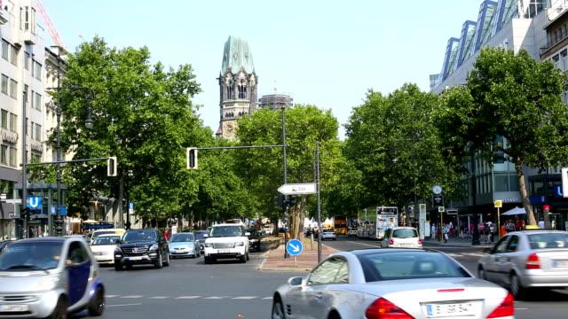 Straße-Szene in Berlin Kurfürstendamm – Video