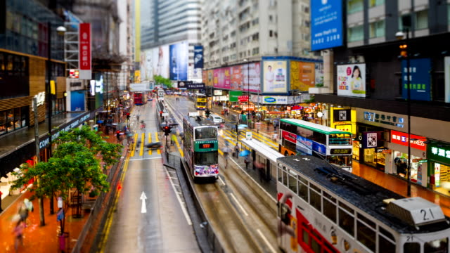 stockvideo's en b-roll-footage met street scene of hong kong - hongkong