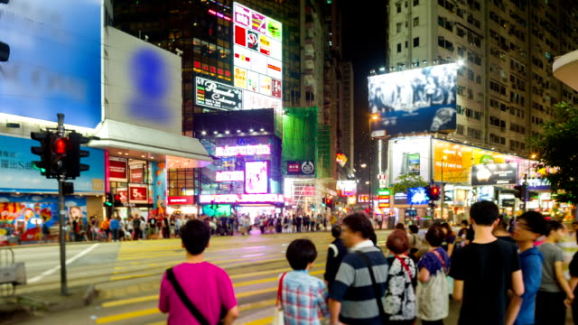 street scene of hong kong - центральный район стоковые видео и кадры b-roll